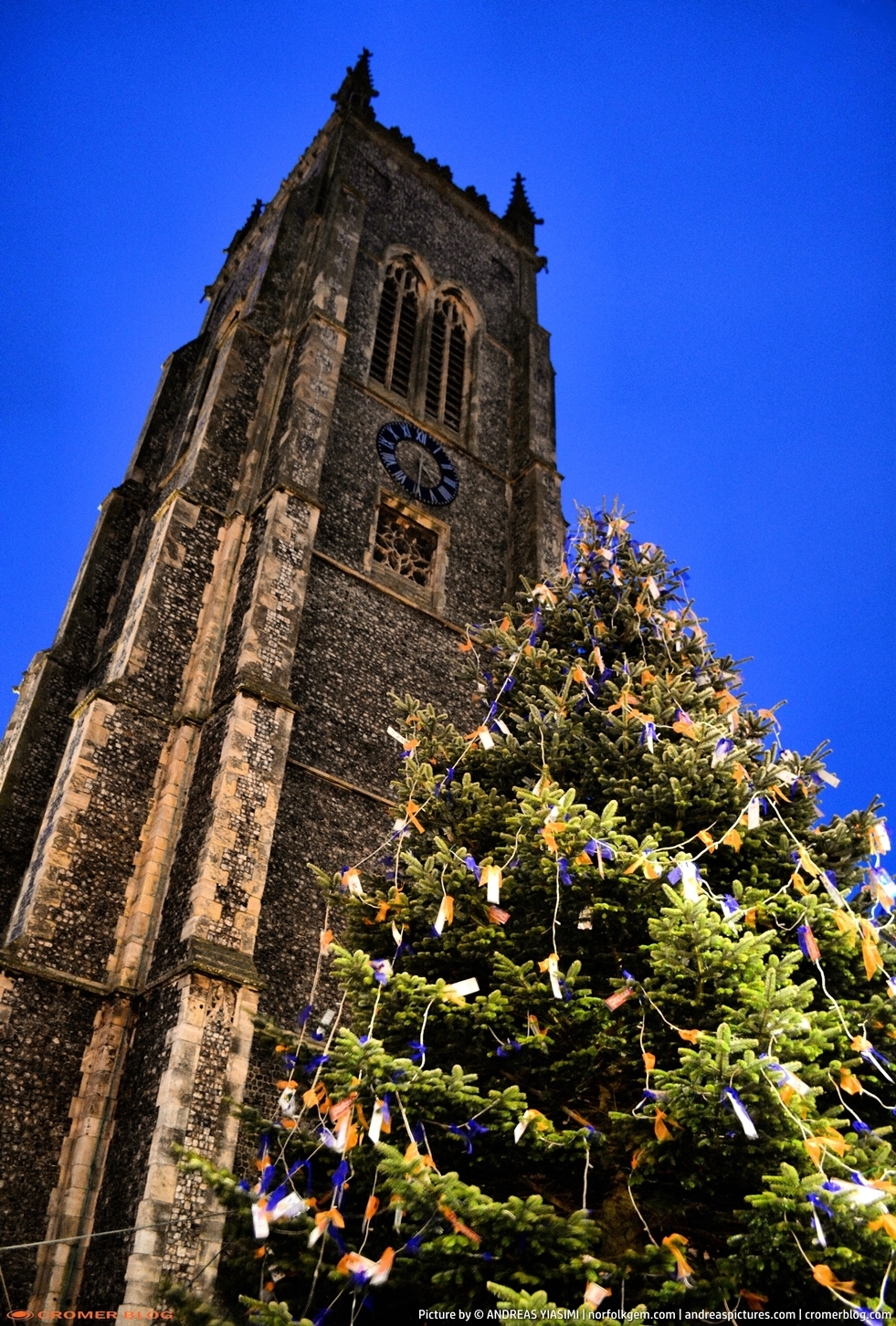 Cromer Christmas Tree at night picture Andreas Yiasimi (9)