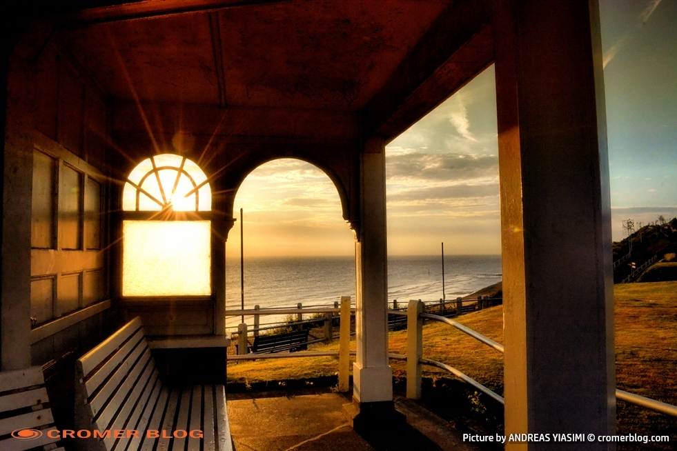 Cromer sunrise through the arch window Andreas Yiasimi